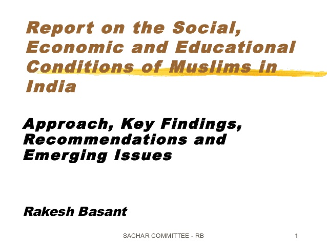 Report on the Social, Economic and Educational Conditions of Muslims in India