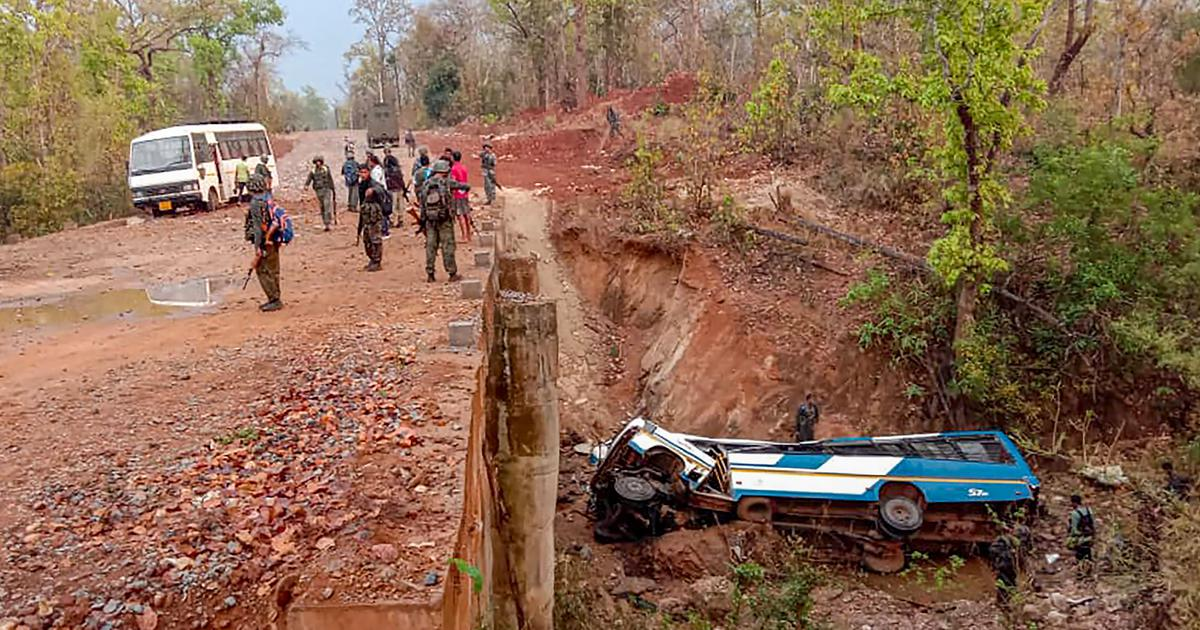 Chhattisgarh: 5 police personnel killed, 14 injured in alleged Maoists attack