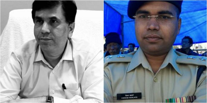 Deputy Commissioner of Police (Crime Branch) Rajesh Deo and Vikram Khalate