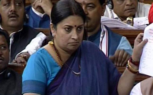 Smriti Irani in Parliament