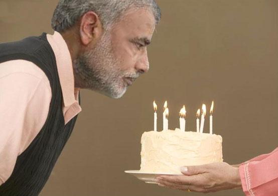 Happy B'Day PM! Modi's 67th Year Compulsory Celebrations in UP's ...