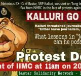 Protest against kalluri