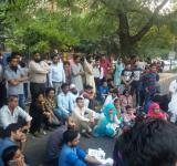 Najeeb SIT IN protest