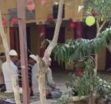 Muslim offering namaz in temple