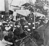 Sikhs aboard Komagata Maru in Vancouver's Burrard Inlet