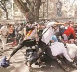pune police lathicharged on disabled