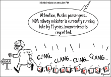cartoon Nitish